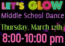 Let's Glow Middle School Dance
