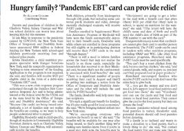 """Pandemic EBT"" card Article"