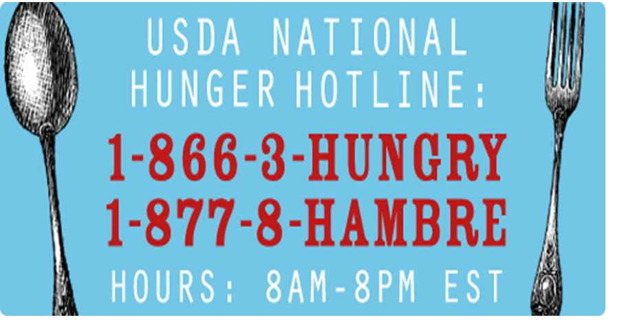 USDA Hunger Line